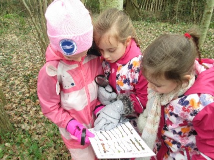Children wrap up warm and embrace the British weather!